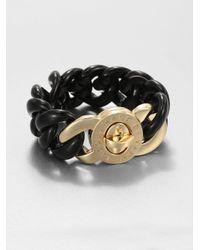 Marc By Marc Jacobs - Black Link Turnlock Bracelet - Lyst