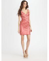 Nicole Miller - Pink Metallic Dress - Lyst
