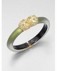 Alexis Bittar - Gray Jeweled Lucite Bangle Bracelet - Lyst