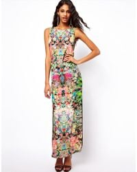 ASOS | Multicolor Maxi Dress in Dark Based Floral | Lyst
