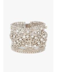 Bebe | Metallic Chain Link Magnet Bracelet | Lyst