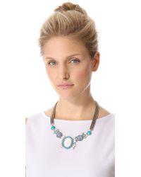 DANNIJO - Blue Ramona Necklace - Lyst