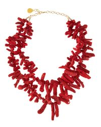 Devon Leigh | Red Coral Necklace | Lyst