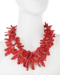 Devon Leigh - Red Coral Necklace - Lyst