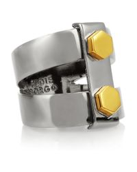 Eddie Borgo | Metallic Lock Nut Gunmetalplated Ring | Lyst