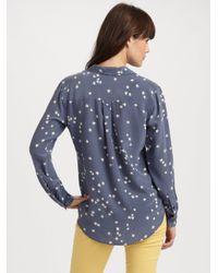 Equipment - Blue Starry Night Slim Signature Shirt - Lyst