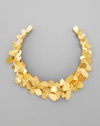 Herve Van Der Straeten | Metallic Gold Petal Collar Necklace | Lyst