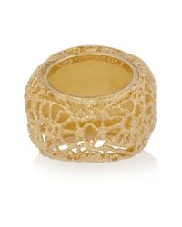 Isharya - Pink 18karat Goldplated Resin Ring - Lyst