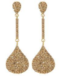 Mikey | Metallic Oblong Drop Earrings | Lyst