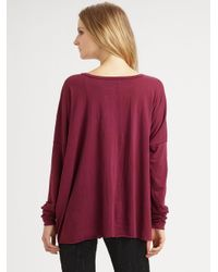 Rag & Bone - Purple Oversized V-neck Top - Lyst