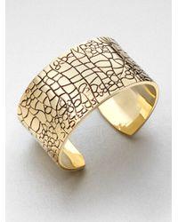 ABS By Allen Schwartz - Metallic Textured Cuff Bracelet - Lyst