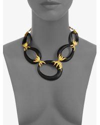 Alexis Bittar - Black Lucite Link Necklace - Lyst