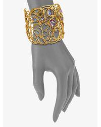 Alexis Bittar - Metallic Jeweled Lace Cuff Bracelet - Lyst
