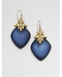 Alexis Bittar | Blue Jewelcapped Lucite Earrings | Lyst