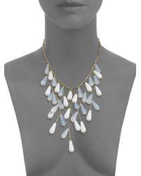 Ben-Amun - Metallic Teardrop Bib Necklace - Lyst