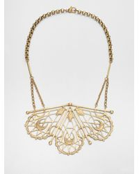Bing Bang | Metallic Sacred Geometry Bib Necklace | Lyst