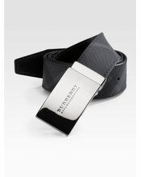 Burberry   Black Signature Belt for Men   Lyst