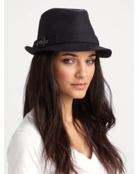 Burberry - Black Cotton Gaberdine Trilby - Lyst