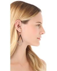 Gemma Redux | Metallic Triangle Drop Earrings | Lyst