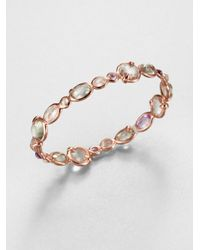 Ippolita | Pink Rosé Mini Hero Bloom Bangle Bracelet | Lyst