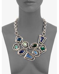Ippolita | Metallic Quartz Adorned Sterling Silver Bib Necklace | Lyst