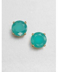 kate spade new york - Blue Gumdrop Stud Earrings-aqua - Lyst