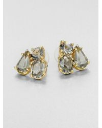 kate spade new york - Blue Clear Cluster Earrings - Lyst