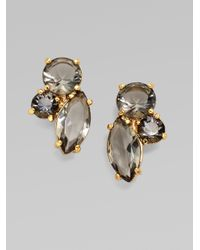 kate spade new york | Gray Faceted Cluster Earrings-smoke | Lyst