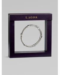 Lagos - Metallic Sterling Silver Beaded X Bracelet - Lyst