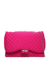 Leghilà - Purple Butterfly Quilted Neoprene Shoulder Bag - Lyst