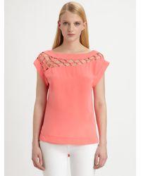 Nanette Lepore - Pink Tossa De Mar Silk Top - Lyst