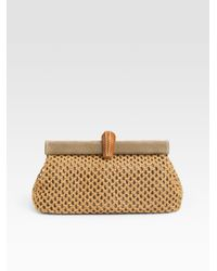 Prada | Natural Rete Clutch | Lyst