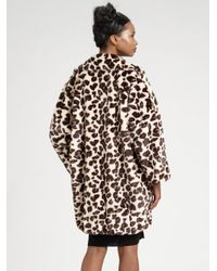 Sonia by Sonia Rykiel | Natural Oversized Animal-print Coat | Lyst