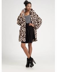 Sonia by Sonia Rykiel - Natural Oversized Animal-print Coat - Lyst