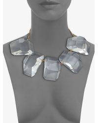 Stella McCartney - Metallic 14k Gold Faceted Statement Necklace - Lyst