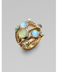 Stephen Dweck | Green Rock Crystal Bronze Ring | Lyst