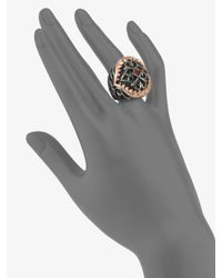 Stephen Webster | Metallic Two Tone Shark Jaw Filigree Ring | Lyst
