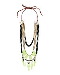 TOPSHOP - Multicolor Mega Mix Media Necklace - Lyst