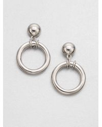Tory Burch | Metallic Ring Drop Sterling Silver Earrings | Lyst