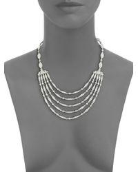 Adriana Orsini - Metallic Marquis Bib Necklace - Lyst