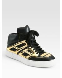 Alejandro Ingelmo | Black Tron Leather Laceup Sneakers | Lyst
