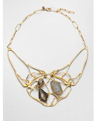 Alexis Bittar | Metallic Liquid Labradorite Doublet Interlaced Necklace | Lyst