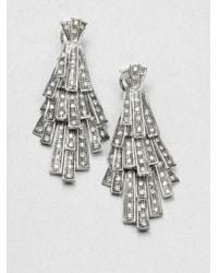 Ca&Lou - Metallic Tiered Cascade Sparkle Earrings - Lyst