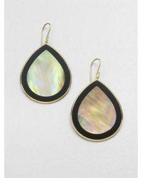 Ippolita | 18k Gold Black Onyx Teardrop Earrings | Lyst
