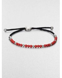 John Hardy | Red Beaded Cord Bracelet | Lyst
