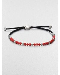 John Hardy | Red Beaded Cord Bracelet for Men | Lyst