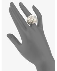 John Hardy | Metallic Sterling Silver Dome Ring | Lyst