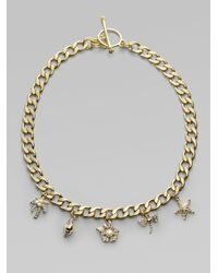 Juicy Couture | Metallic Fun in The Sun Charm Necklace | Lyst