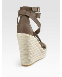 Juicy Couture - Brown Giana Anklewrap Espadrilles - Lyst