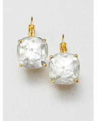 Kate Spade | Metallic Faceted Square Drop Earrings/clear | Lyst